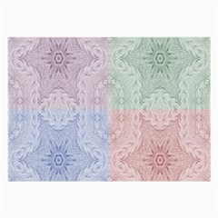 Seamless Kaleidoscope Patterns In Different Colors Based On Real Knitting Pattern Large Glasses Cloth (2-Side)