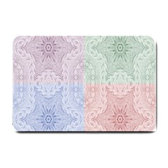 Seamless Kaleidoscope Patterns In Different Colors Based On Real Knitting Pattern Small Doormat
