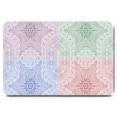 Seamless Kaleidoscope Patterns In Different Colors Based On Real Knitting Pattern Large Doormat