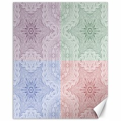 Seamless Kaleidoscope Patterns In Different Colors Based On Real Knitting Pattern Canvas 11  x 14