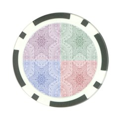 Seamless Kaleidoscope Patterns In Different Colors Based On Real Knitting Pattern Poker Chip Card Guard