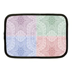 Seamless Kaleidoscope Patterns In Different Colors Based On Real Knitting Pattern Netbook Case (Medium)