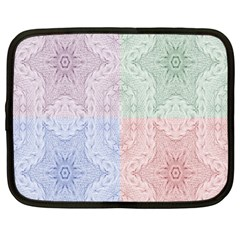 Seamless Kaleidoscope Patterns In Different Colors Based On Real Knitting Pattern Netbook Case (Large)