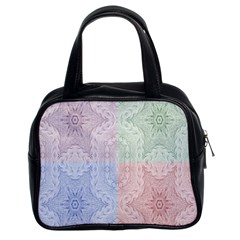 Seamless Kaleidoscope Patterns In Different Colors Based On Real Knitting Pattern Classic Handbags (2 Sides)