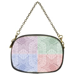 Seamless Kaleidoscope Patterns In Different Colors Based On Real Knitting Pattern Chain Purses (one Side)
