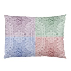 Seamless Kaleidoscope Patterns In Different Colors Based On Real Knitting Pattern Pillow Case
