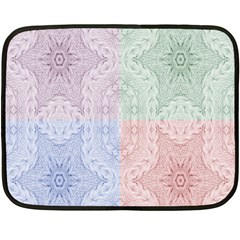 Seamless Kaleidoscope Patterns In Different Colors Based On Real Knitting Pattern Double Sided Fleece Blanket (Mini)