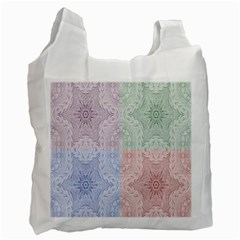 Seamless Kaleidoscope Patterns In Different Colors Based On Real Knitting Pattern Recycle Bag (Two Side)
