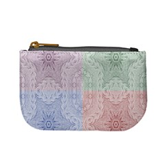Seamless Kaleidoscope Patterns In Different Colors Based On Real Knitting Pattern Mini Coin Purses