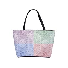 Seamless Kaleidoscope Patterns In Different Colors Based On Real Knitting Pattern Shoulder Handbags