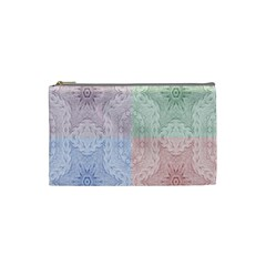 Seamless Kaleidoscope Patterns In Different Colors Based On Real Knitting Pattern Cosmetic Bag (Small)