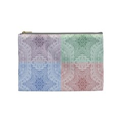 Seamless Kaleidoscope Patterns In Different Colors Based On Real Knitting Pattern Cosmetic Bag (medium)