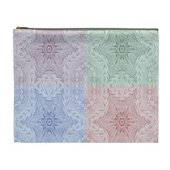 Seamless Kaleidoscope Patterns In Different Colors Based On Real Knitting Pattern Cosmetic Bag (XL)