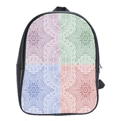 Seamless Kaleidoscope Patterns In Different Colors Based On Real Knitting Pattern School Bags(large)