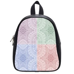 Seamless Kaleidoscope Patterns In Different Colors Based On Real Knitting Pattern School Bags (Small)