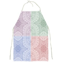 Seamless Kaleidoscope Patterns In Different Colors Based On Real Knitting Pattern Full Print Aprons