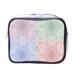 Seamless Kaleidoscope Patterns In Different Colors Based On Real Knitting Pattern Mini Toiletries Bags
