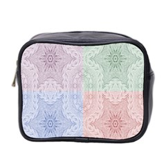 Seamless Kaleidoscope Patterns In Different Colors Based On Real Knitting Pattern Mini Toiletries Bag 2 Side
