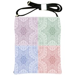 Seamless Kaleidoscope Patterns In Different Colors Based On Real Knitting Pattern Shoulder Sling Bags