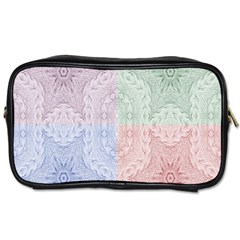 Seamless Kaleidoscope Patterns In Different Colors Based On Real Knitting Pattern Toiletries Bags 2-Side