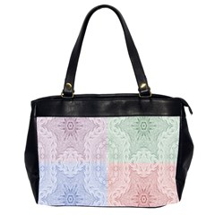Seamless Kaleidoscope Patterns In Different Colors Based On Real Knitting Pattern Office Handbags (2 Sides)