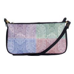 Seamless Kaleidoscope Patterns In Different Colors Based On Real Knitting Pattern Shoulder Clutch Bags