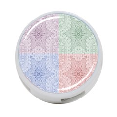 Seamless Kaleidoscope Patterns In Different Colors Based On Real Knitting Pattern 4-Port USB Hub (Two Sides)