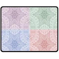 Seamless Kaleidoscope Patterns In Different Colors Based On Real Knitting Pattern Fleece Blanket (Medium)