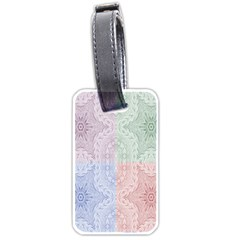 Seamless Kaleidoscope Patterns In Different Colors Based On Real Knitting Pattern Luggage Tags (two Sides)
