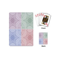 Seamless Kaleidoscope Patterns In Different Colors Based On Real Knitting Pattern Playing Cards (Mini)