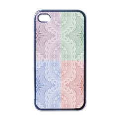 Seamless Kaleidoscope Patterns In Different Colors Based On Real Knitting Pattern Apple iPhone 4 Case (Black)