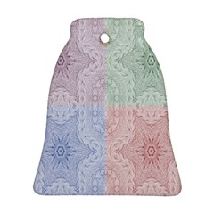 Seamless Kaleidoscope Patterns In Different Colors Based On Real Knitting Pattern Ornament (Bell)