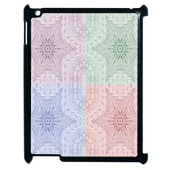 Seamless Kaleidoscope Patterns In Different Colors Based On Real Knitting Pattern Apple iPad 2 Case (Black)