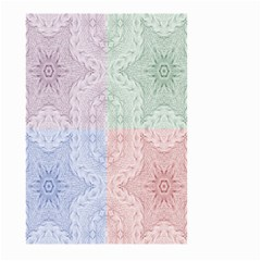 Seamless Kaleidoscope Patterns In Different Colors Based On Real Knitting Pattern Large Garden Flag (two Sides)