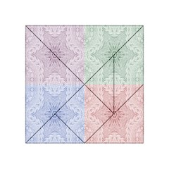 Seamless Kaleidoscope Patterns In Different Colors Based On Real Knitting Pattern Acrylic Tangram Puzzle (4  X 4 )