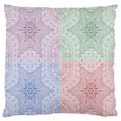 Seamless Kaleidoscope Patterns In Different Colors Based On Real Knitting Pattern Large Cushion Case (two Sides)