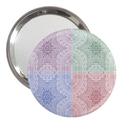 Seamless Kaleidoscope Patterns In Different Colors Based On Real Knitting Pattern 3  Handbag Mirrors