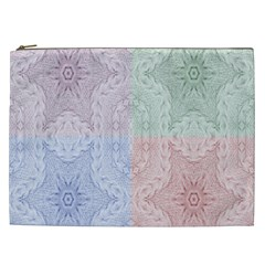 Seamless Kaleidoscope Patterns In Different Colors Based On Real Knitting Pattern Cosmetic Bag (xxl)