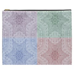 Seamless Kaleidoscope Patterns In Different Colors Based On Real Knitting Pattern Cosmetic Bag (xxxl)