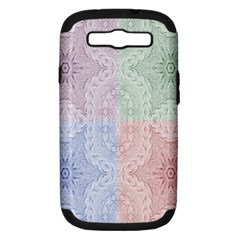 Seamless Kaleidoscope Patterns In Different Colors Based On Real Knitting Pattern Samsung Galaxy S Iii Hardshell Case (pc+silicone)