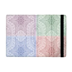Seamless Kaleidoscope Patterns In Different Colors Based On Real Knitting Pattern Apple Ipad Mini Flip Case