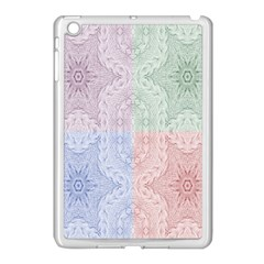 Seamless Kaleidoscope Patterns In Different Colors Based On Real Knitting Pattern Apple Ipad Mini Case (white)