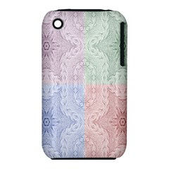 Seamless Kaleidoscope Patterns In Different Colors Based On Real Knitting Pattern Iphone 3s/3gs