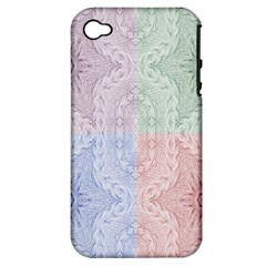 Seamless Kaleidoscope Patterns In Different Colors Based On Real Knitting Pattern Apple Iphone 4/4s Hardshell Case (pc+silicone)
