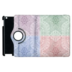 Seamless Kaleidoscope Patterns In Different Colors Based On Real Knitting Pattern Apple Ipad 2 Flip 360 Case
