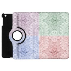 Seamless Kaleidoscope Patterns In Different Colors Based On Real Knitting Pattern Apple Ipad Mini Flip 360 Case