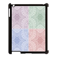 Seamless Kaleidoscope Patterns In Different Colors Based On Real Knitting Pattern Apple Ipad 3/4 Case (black)