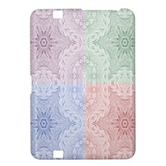Seamless Kaleidoscope Patterns In Different Colors Based On Real Knitting Pattern Kindle Fire HD 8.9