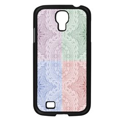 Seamless Kaleidoscope Patterns In Different Colors Based On Real Knitting Pattern Samsung Galaxy S4 I9500/ I9505 Case (black)