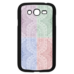 Seamless Kaleidoscope Patterns In Different Colors Based On Real Knitting Pattern Samsung Galaxy Grand Duos I9082 Case (black)